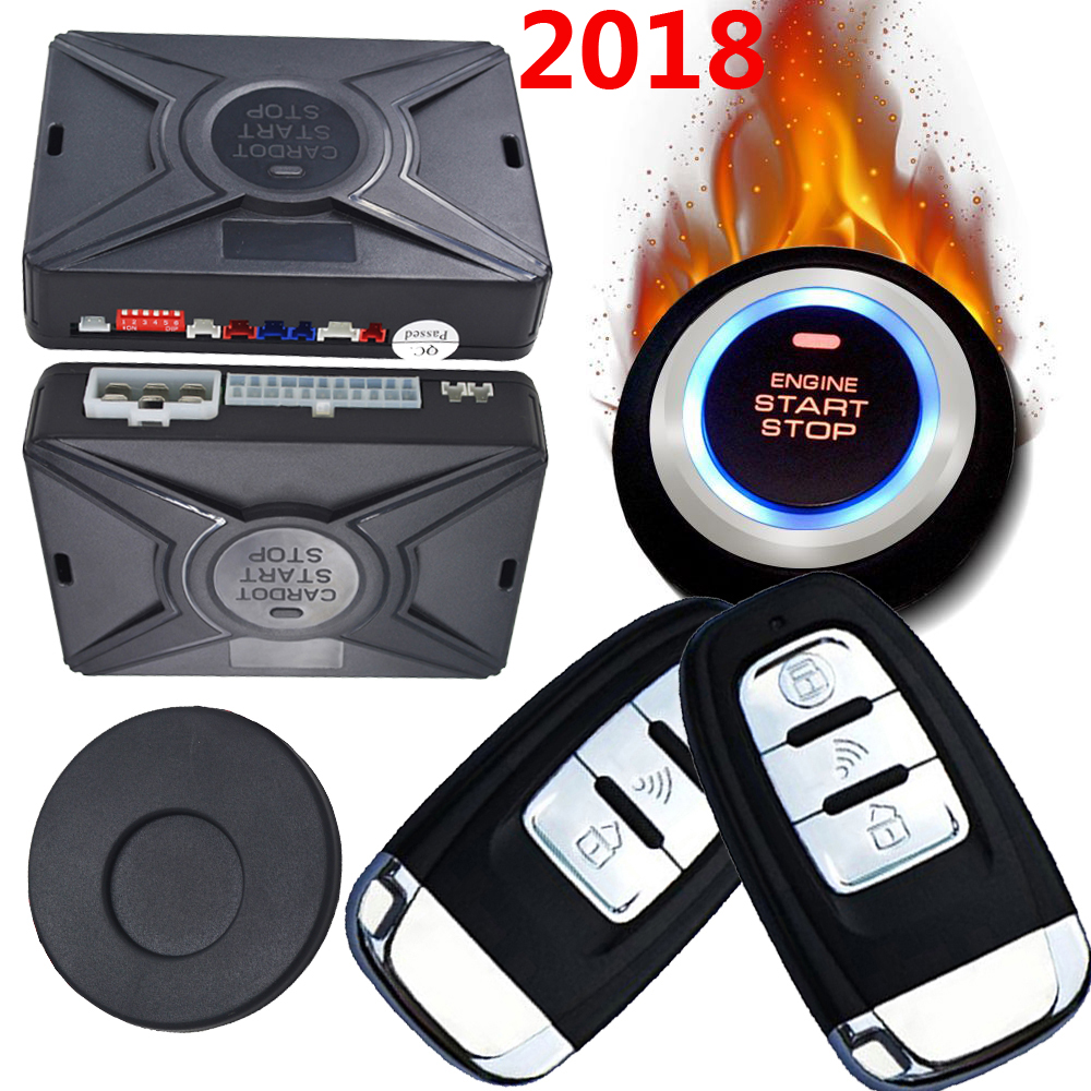 passive car alarm system smart key auto keyless entry central door lock system ignition button start stop online discount price smart car security alarm system ignition start stop button auto keyless entry car door central lock remote engine start stop