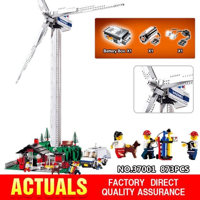 873Pcs Genuine Street Series Vestas Wind Turbine Children Building Blocks Bricks Toys Model Gifts LegoINGlys 4999