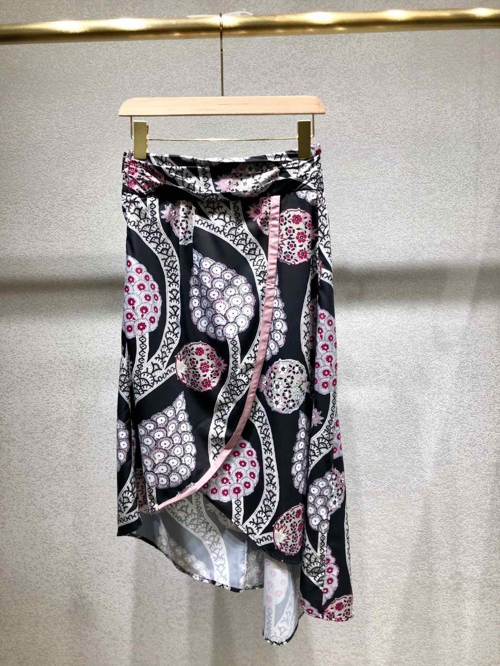 Patrón Las Impresión Plisada Principios 2019 La Color 118 Falda Nuevas Mujeres De Primavera xzx1CwIqB