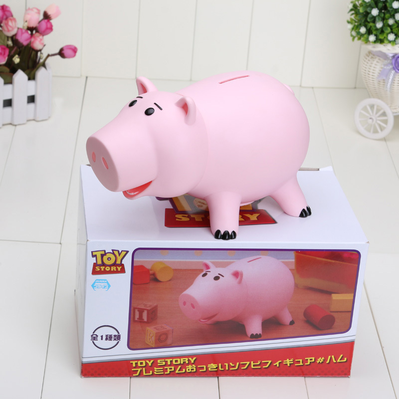 Disney 820cm Toy Story Hamm Piggy Bank Pink Pig Coin Box PVC Model Animal Toys for Children Action Figures Kids Birthday Gift patrulla canina with shield brinquedos 6pcs set 6cm patrulha canina patrol puppy dog pvc action figures juguetes kids hot toys