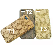 Octopus Sculpture Wood Phone Cases For iphone