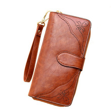 2016 Brand Handbag Genuine Leather Purse Men The Fashion Clutch Men's Wallets Black Coffee Colour Carteira Free Shipping