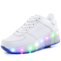 15 Color Children Shoes With LED Fashion Boys & Girls Roller Sneakers Kids Sports Casual Wheel Shoes Christmas Gift For Children