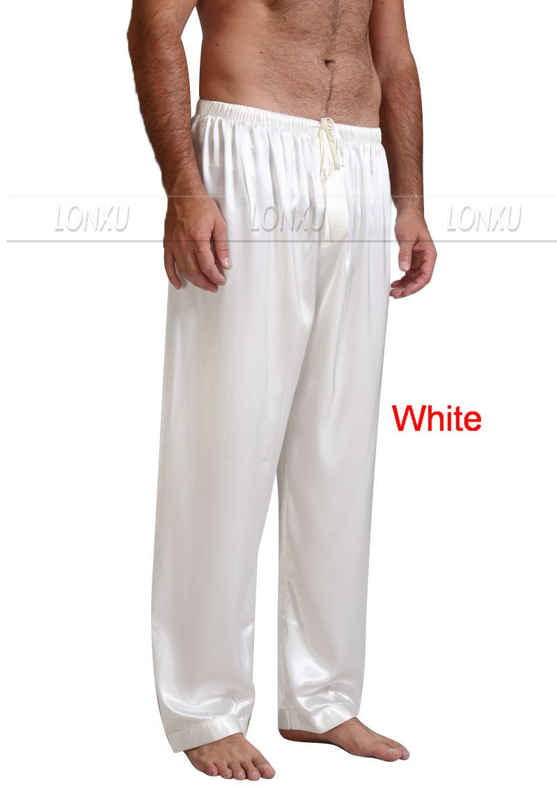 Mens-Silk-Satin-Pajamas-Pyjamas-Pants-Lounge-Pants-Sleep-Bottoms-Free-p-p-S-4XL-Plus (4)
