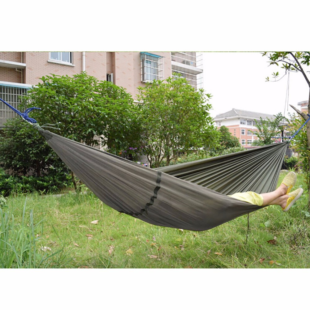 Outdoor Double Person Hanging Portable Parachute Hammock Bed Tent With Mosquito Net Swing Bed Outdoor Accessories