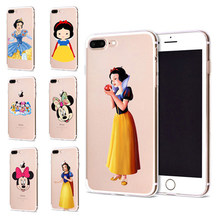 Funda Para Apple iPhone 6 7 6 S Plus X 7 10 Bonito Snow White Capa TPU Macio para iPhone caso Coque para iPhone Caso 8 B314 Originais(China)