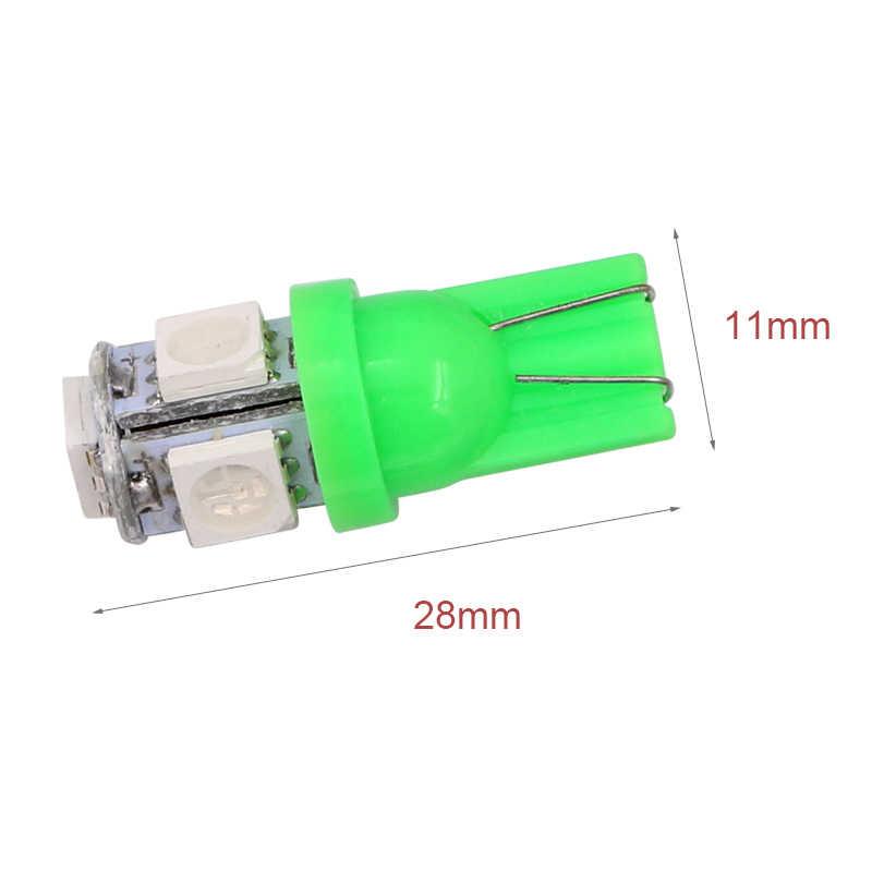 1 stücke T10 W5W 5050 5 SMD 194 168 LED weiß/blau/rot/grün/gelb Keil innen Side-Dashboard Lizenz Licht Lampe Auto Styling