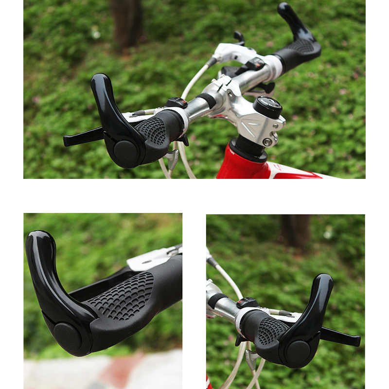 1 Pairs Cycling Handle Grips Handlebar Cover Rubber Anti-slip Lockable For Bicycle Mountain Bike YA88