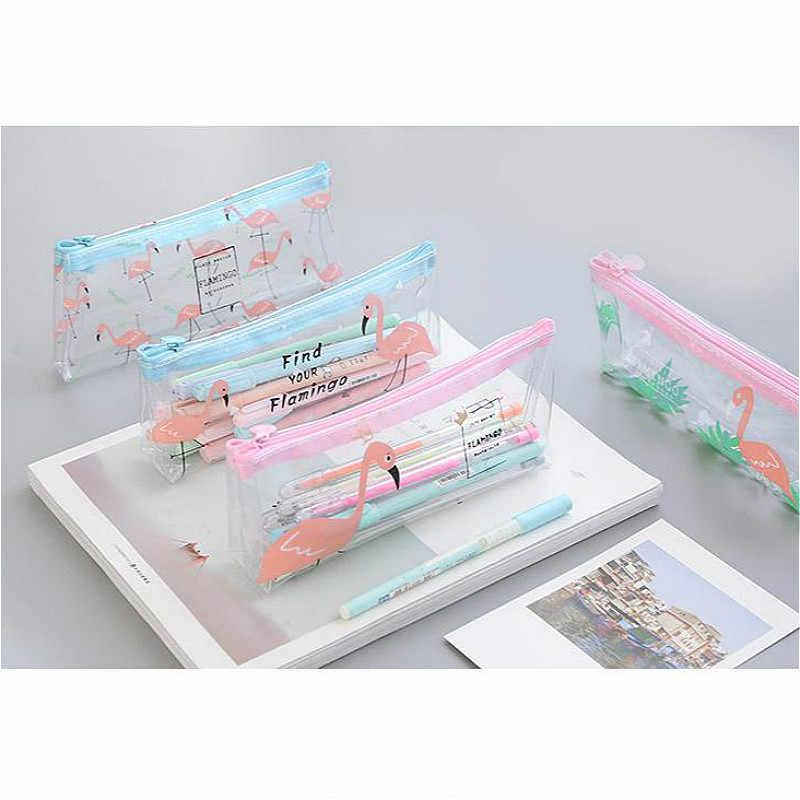Venda quente 1 pçs caso de lápis de boneca lona grande zíper estuches escola caixa de lápis lápis pencilcase material escolar papelaria