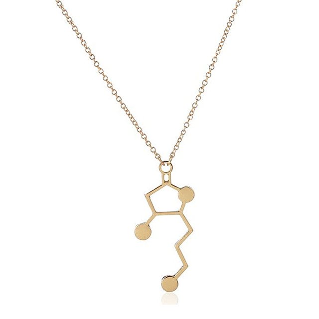 Wholesale Jewelry 10pc Whiskey Molecule Chemistry Science Chemistry  Pendants&Necklaces Simple Necklace For Cute Love Couples-in Chain Necklaces  from
