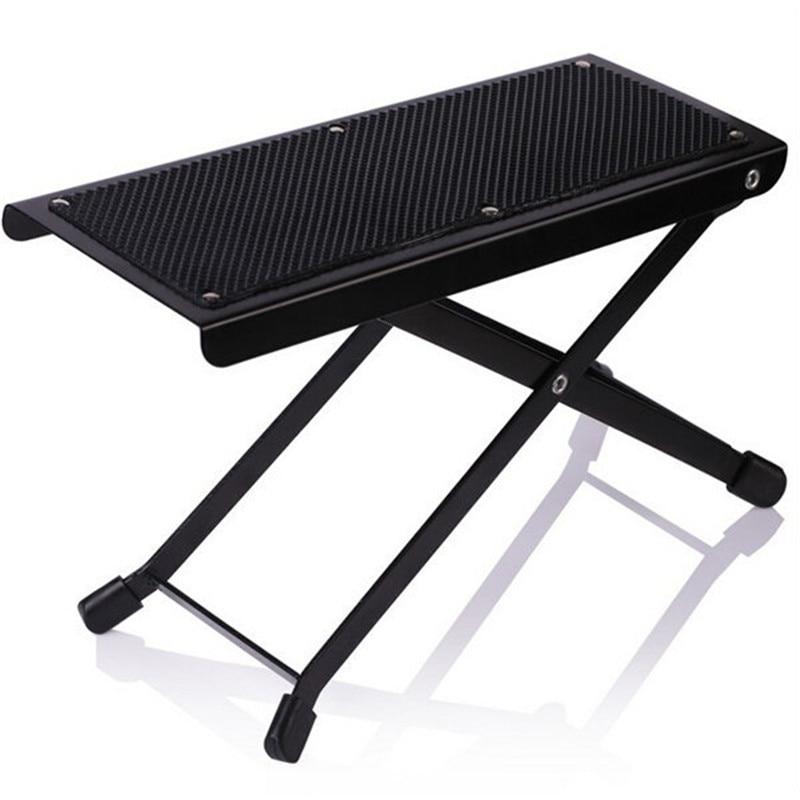 Musical Instrument Metal Folding Guitar Pedal Black Guitar Parts For Acoustic Guitar Footrest Footboard Mini Pedals