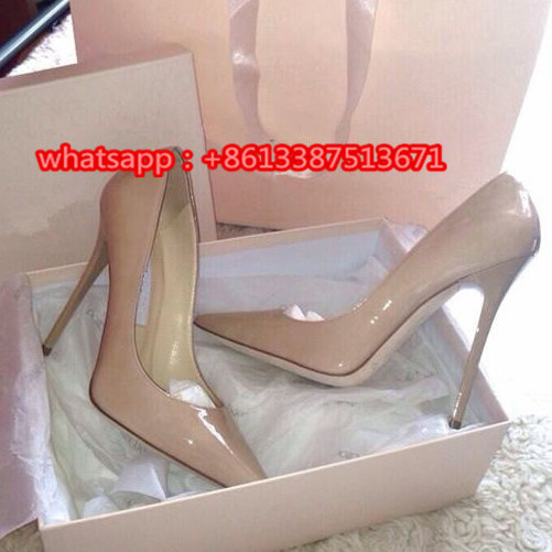 Fashion Nude Patent Leather Pointy Toe Women Pump Slip-On 120mm Anouk Patent/Suede Leather Stiletto Wedding Pumps Shoes Woman