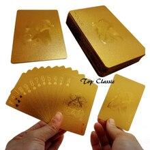 Gold-фольга гальваническим карты, игральные покер золотая фольга настольные золотой прочный к