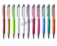 Bolígrafo de cristal Flattop, bolígrafo de promoción con Logo impreso, bolígrafos de 50 unids/lote