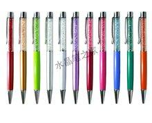 Flattop kryształowy długopis drukuj Logo promocja długopis długopisy 50 sztuk/partia