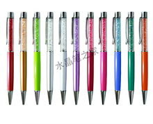 Stylo à bille en cristal aplatir impression Logo Promotion stylo stylos à bille 50 pièces/lot