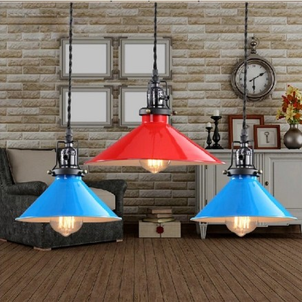 American Loft Style Retro Droplight Edison Pendant Light Fixtures For Dining Room Bar Hanging Lamp Vintage Industrial Lighting simple bar restaurant droplight loft retro pendant lamp industrial wind vintage iron hanging lamps for dining room