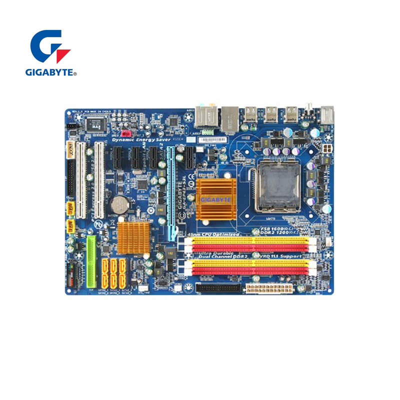 Гигабайт GA-EP43-S3L 100% Оригинал материнская плата LGA 775 DDR2 настольный компьютер плата 16 ГБ EP43-DS3L UD3L используется Панели для P43 ...
