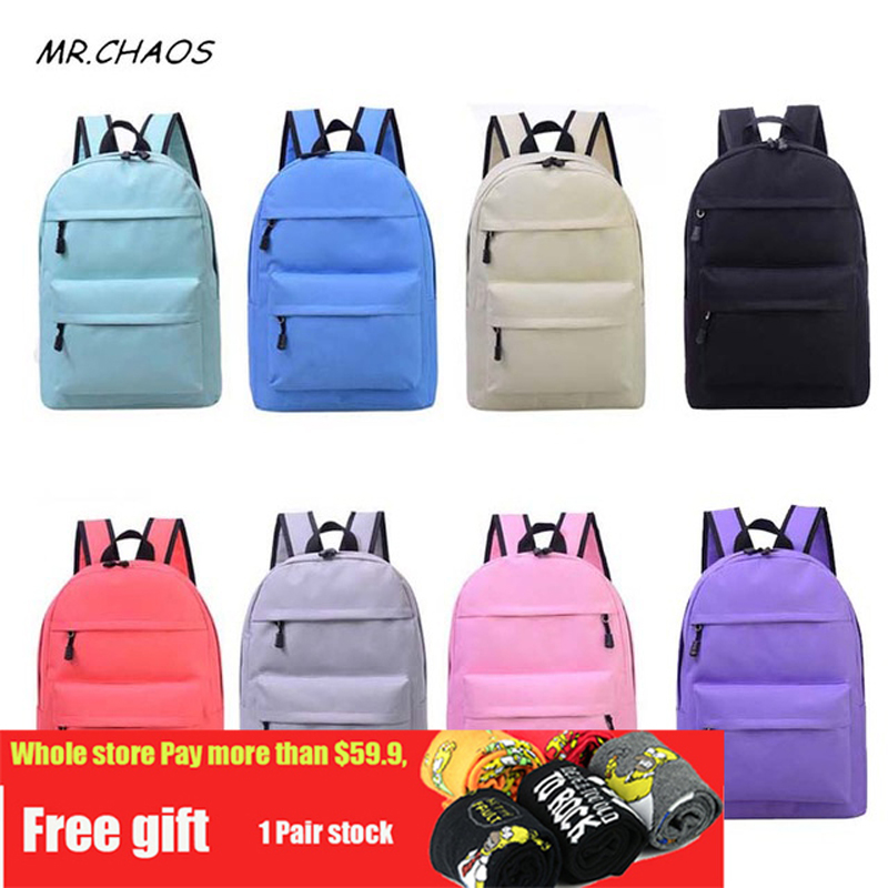 Quality Simple Fashion Canvas Bag Female Korean Backpack For Women School Student Teenage Girl Mochila Escolar Women Backpack