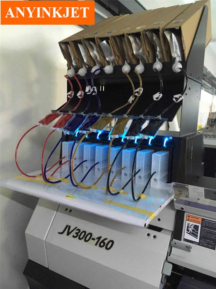 CISS Sistem Sistem Tinta Massal untuk Mimaki JV33-160A JV300-160 JV400-160 JV150-160A Pencetak (8 Warna)