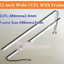 2 шт 22 ''дюймовые широкие двойные лампы CCFL с рамкой, ЖК-лампа с подсветкой с корпусом, CCFL с крышкой, CCFL: 480 мм x 2,4 мм, рамка: 490 мм x 7 мм