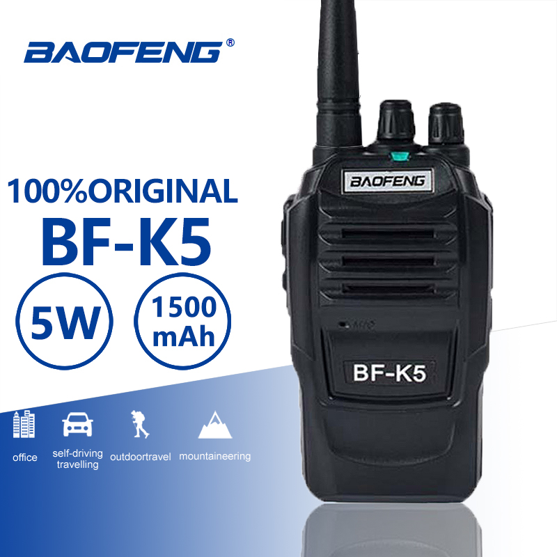 Baofeng BF K5 Walkie Talkie 5W UHF 400 470mhz Frequency FM Portable Radio Set Ham Radio Hf Transceiver K5 Two Way Radio BF 888S