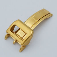 MAIKES 18mm New Watch Band Buckle Deployment Clasp Gold Polished Brushed High Quality Stainless Steel No