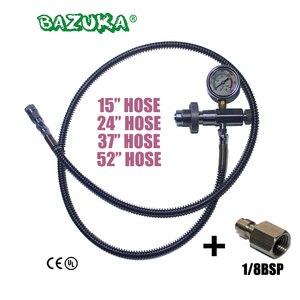 Image 1 - مسدس هواء جديد PCP بندقية هواء من الفولاذ المقاوم للصدأ DIN تعبئة مهايئ شحن خرطوم HPA أسطوانة غاز كبيرة إلى أسطوانة صغيرة