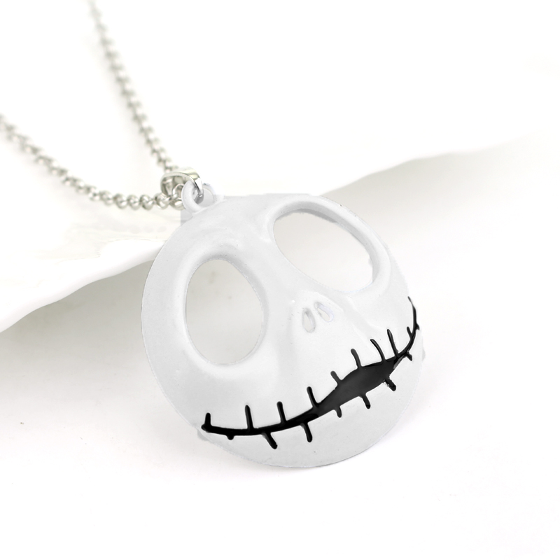 Cartoon Jewelry The Nightmare Before Christmas Pumpkin King Santa Jack Mask Necklace Pendants with Chain
