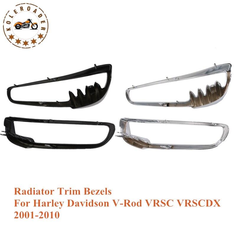 1Pair Motorcycle Bike Chrome Radiator Trim Bezels Cover Case for Harley V Rod VRSC VRSCDX Model