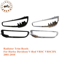 1Pair Motorcycle Bike Chrome Radiator Trim Bezels Cover Case For Harley HD V Rod VRSC VRSCDX