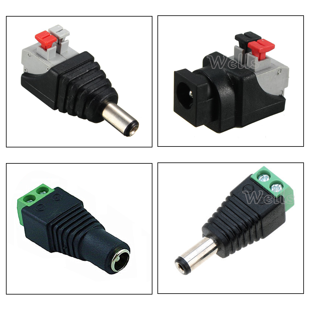 5~100pcs DC Connector For LED Strip Free Welding LED Strip Adapter Connector Male Or Female Connector