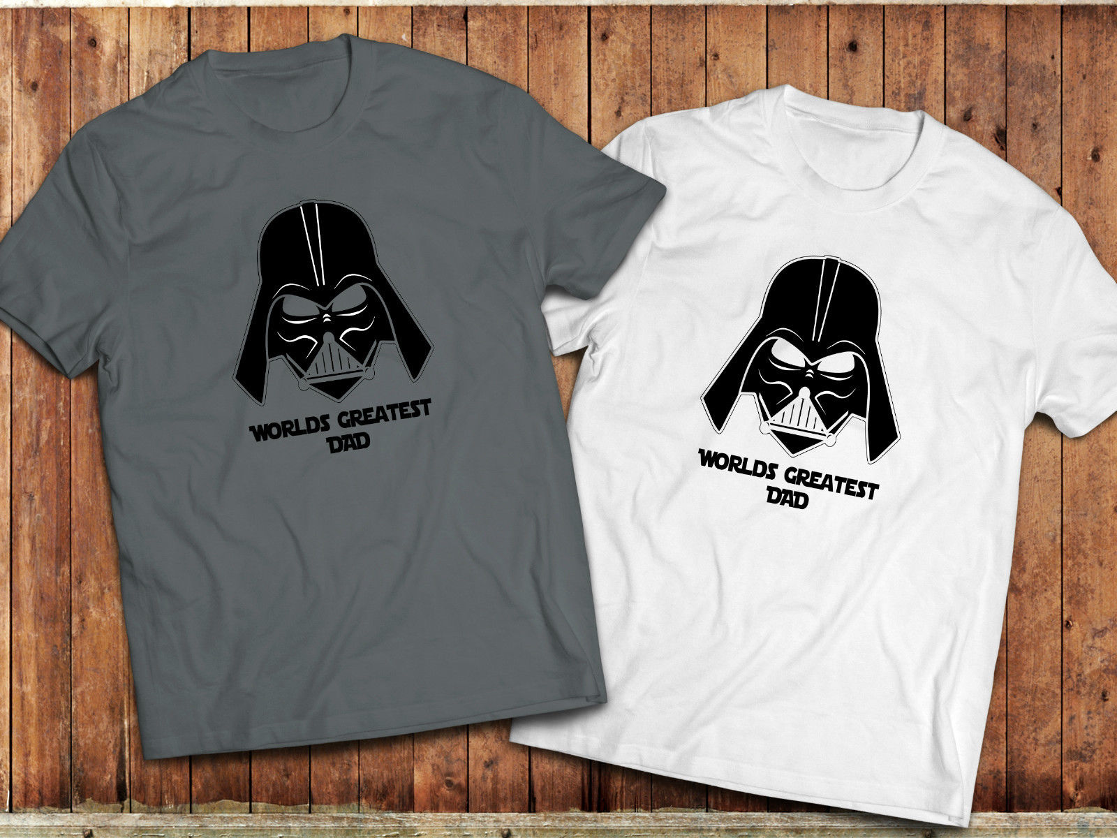 100% Cotton for Man Shirts Star Wars T-shirt, Funny Darth Vader, Worlds Greatest Dad Humurous Meme Tee Print Tee Shirts image