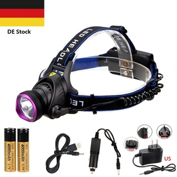 DE STOCK 3 Mode T6 LED Headlamp Rechargeable Waterproof Zoom Headlight Torch Flashlight Head lamp+18650 battery+chanrger 4400ma 18650 battery led headlight xml t6 l2 headlamp waterproof zoom head lamp rechargeable flashlight head torch light