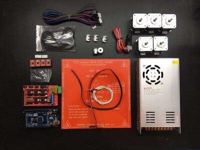 3D imprimante pièces Nouveau kit de bricolage avec Méga 2560 R3 + RAMPES 1.4 + 4 pièces Étape A4988 Pilotes de Moteur pas à pas + 5 pièces NEMA17 moteurs pas à pas