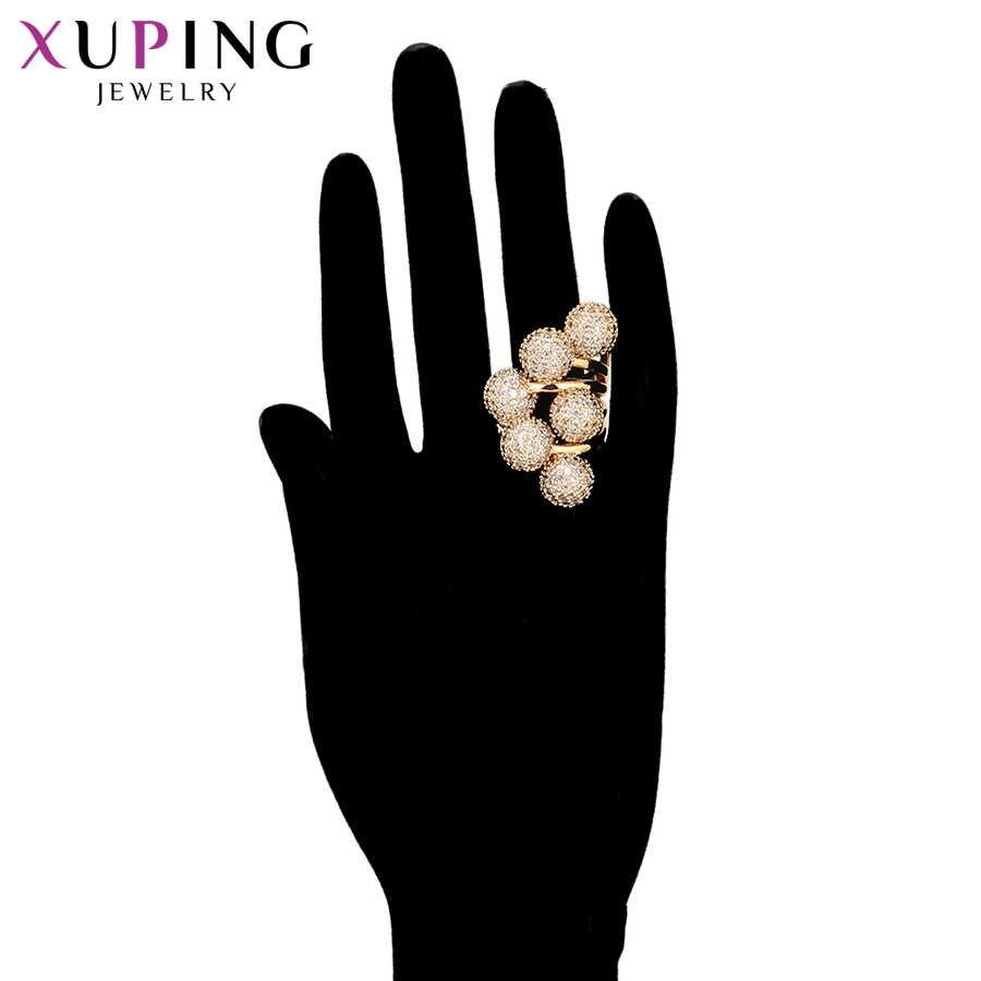 Xuping Luxus Schmuck Temperament Damen Neueste Gold Farbe Überzogen Ring Hohe Qualität für Frauen Weihnachten S122.7-15839