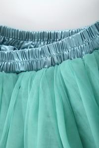Image 5 - 7 Layers Maxi Long Women Skirts Ladies Tulle Skirt Ankle length Apparel Wedding Ball Gown Faldas Lotita Jupe Saia Longa