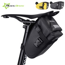 Rockbros Bicycle Bags Waterproof Rear Seat Saddle Bag MTB Cycling Tail Pouch Folding Mountain Road Bike Bag Bicycle Accessories