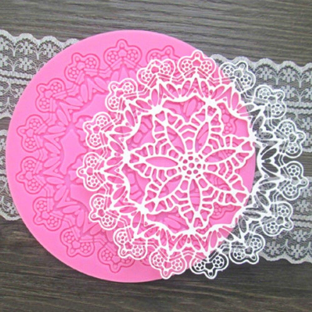 Forma de coroa redonda de silicone para bolo, material para confeitaria, fondant, ferramentas de decoração para bolo ct061, 1 peça