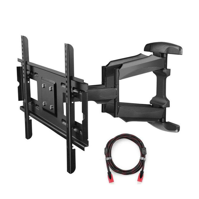suptek articulating full motion tv wall mount bracket for 32 75 led lcd plasma tvs up to 165. Black Bedroom Furniture Sets. Home Design Ideas