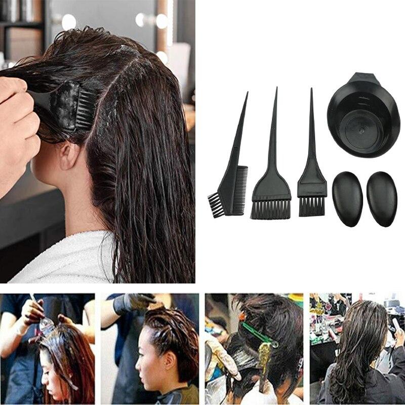 Hair Dyeing Kit Hair Coloring Brush Bowl Comb Tinting Tool Set Bleaching Dye Kit Beauty Comb