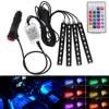 Wireless Remote Music Voice Control Car RGB LED Neon Interior Light Lamp Strip Decorative Lights DXY