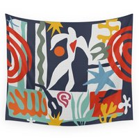 Inspired To Matisse Wall Tapestry Sandy Beach Picnic Throw Rug Blanket Camping Tent Travel Mattress Sleeping Pad