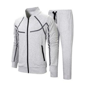 Tracksuits Men Sportswear Long Sleeve Survetement Homme 2 piece Sets Mens Sweatshirts Jacket + Pants Male Brand Fitness Clothing