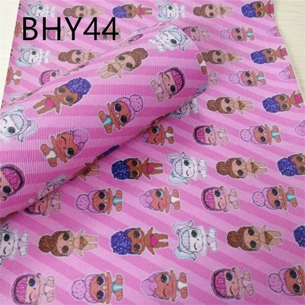 Бесплатная доставка 7,6*12 дюймов мультфильм девочек печати синтетический кожаная ткань для DIY аксессуары BHY44