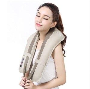 Image 5 - מכירה לוהטת צוואר לעיסוי נייד חשמלי חבטות צוואר הרחם עיסוי צעיפי כאב צוואר כתף Multi פונקצית טאפינג לעיסוי