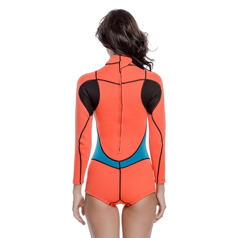 2019 offre spéciale femme à manches longues maillot de bain femmes plongée sous-marine Surf plongée combinaisons humides 2mm néoprène combinaison maillots de bain anti-éruption une pièce - 6