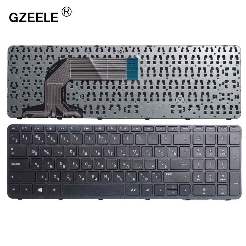 GZEELE Russian laptop Keyboard for HP Pavilion 17 17E 17N 17-N 17-E R68 AER68U00210 710407-001 720670-251 725365-251 RU BLACK certina c032 251 17 011 00