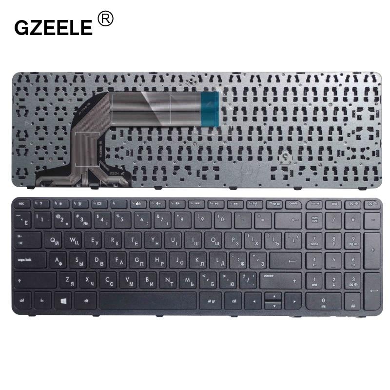 GZEELE Russian Laptop Keyboard For HP Pavilion 17 17E 17N 17-N 17-E R68 AER68U00210 710407-001 720670-251 725365-251 RU BLACK