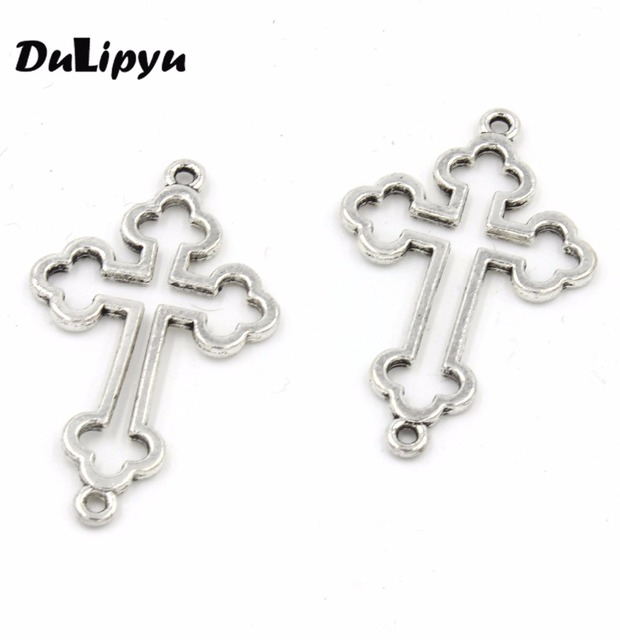 15pcs lot 21 5 35mm vintage hollow filigree cross charms pendants